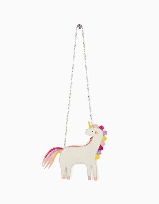 Crossbody Bag for Girls, 'Glitter Unicorn', White
