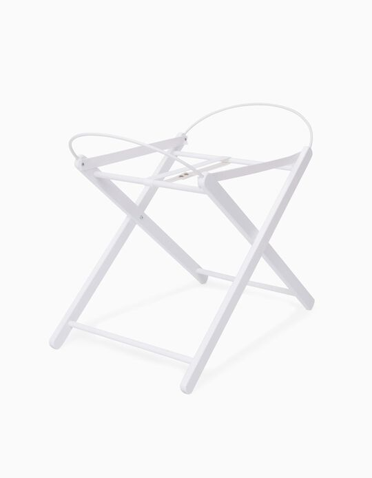 Wooden Stand for Carrycot, White