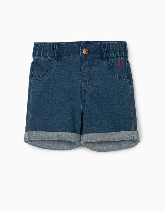 Denim Shorts for Baby Girls, Blue