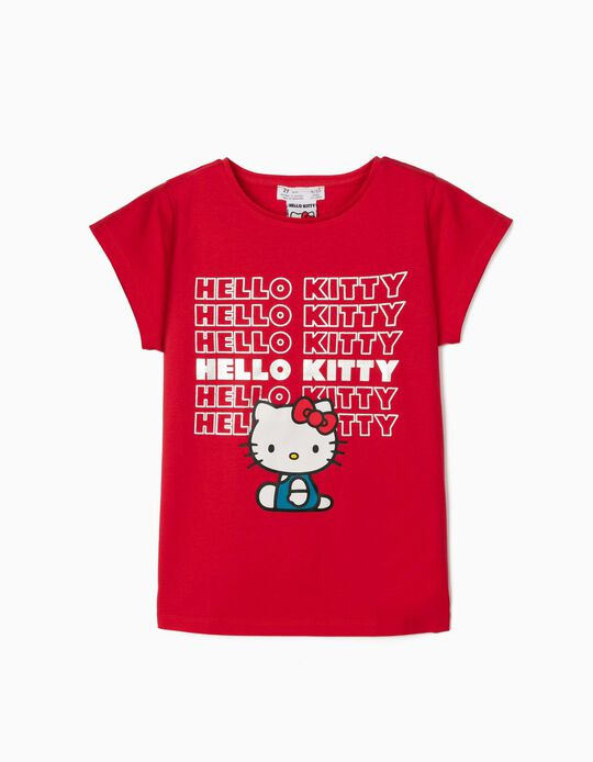 T-shirt for Girls, 'Hello Kitty', Red