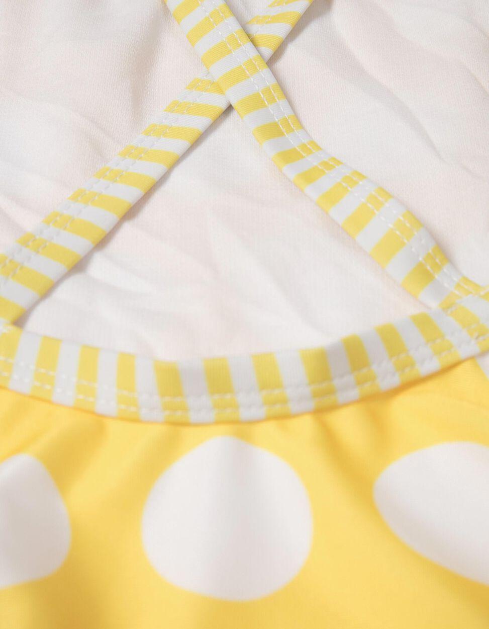 Fato de Banho Riscas & Bolas Amarelo