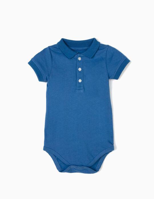 Body Polo para Recién Nacido, Azul