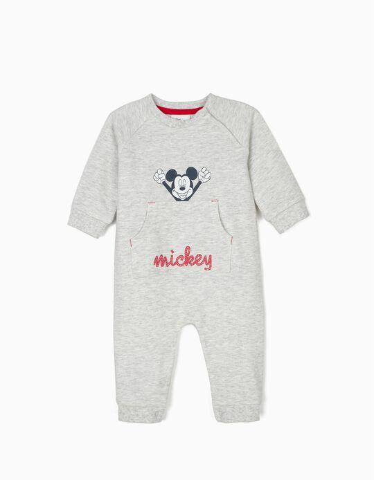 Macacão para Recém-Nascido 'Mickey', Cinza Mesclado