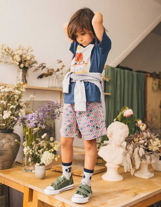 Printed Swim Shorts for Boys, Multicoloured