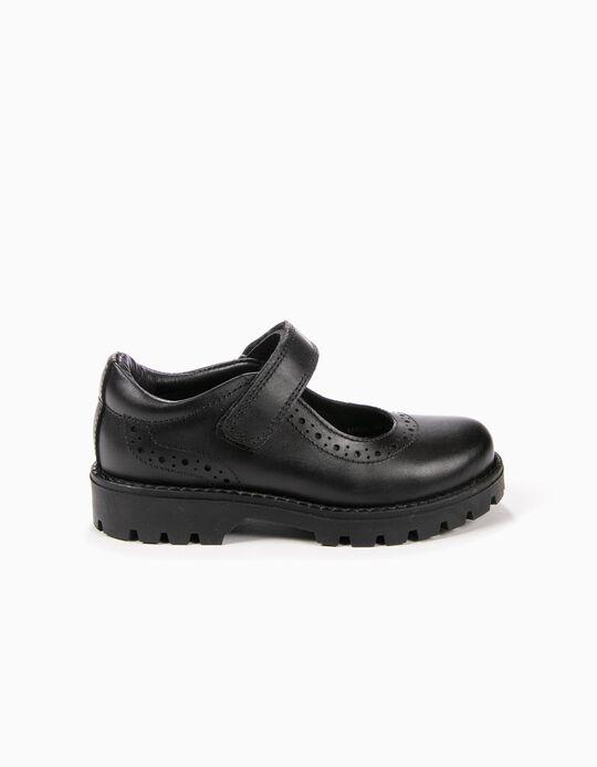 Sapatos de Pele Pretos