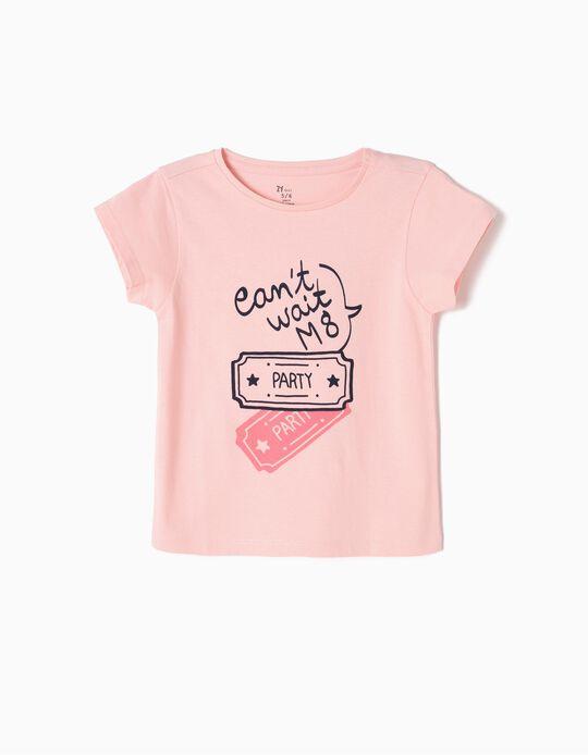 T-shirt Estampada Party Rosa