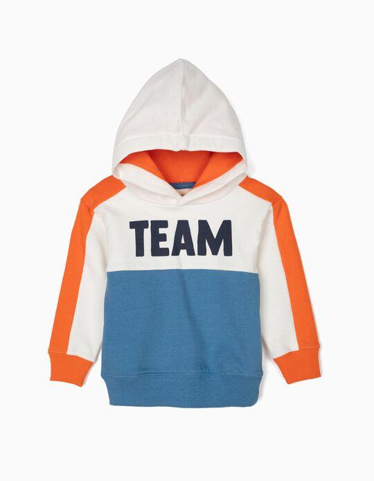 Sweatshirt com Capuz para Bebé Menino 'Team', Tricolor