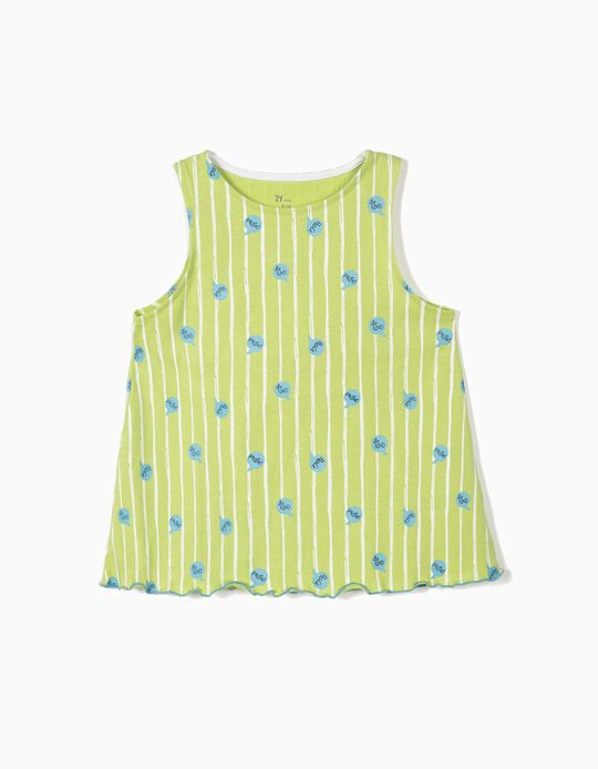 Top for Girls 'Be Kind', Green