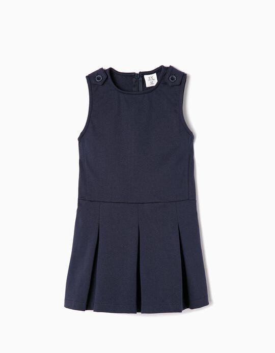 Vestido para Menina, Azul Escuro