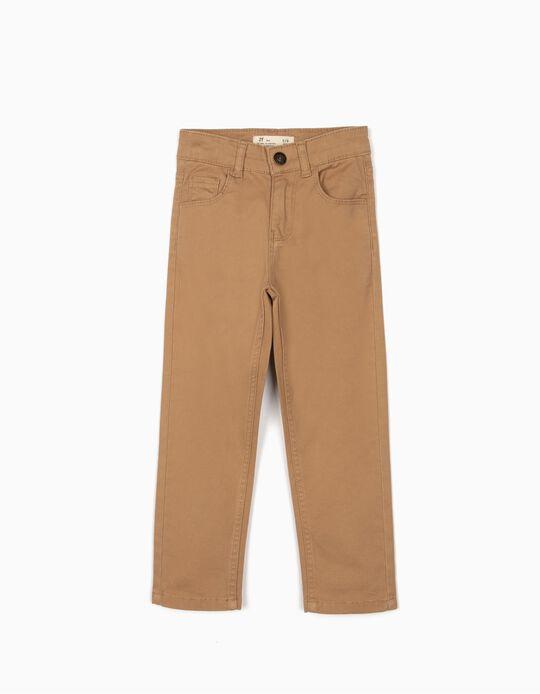 Pantalón de Sarga para Niño, Camel