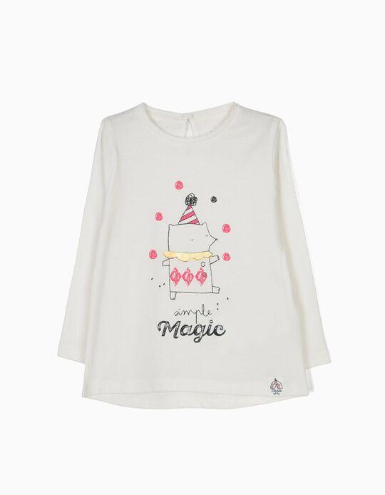 Camiseta de Manga Larga Circus Blanca