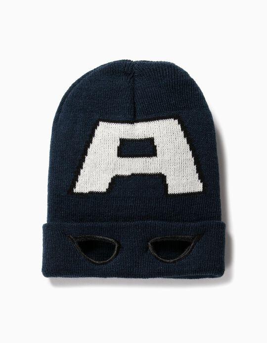 Gorro Máscara para Menino 'Captain America', Azul Escuro