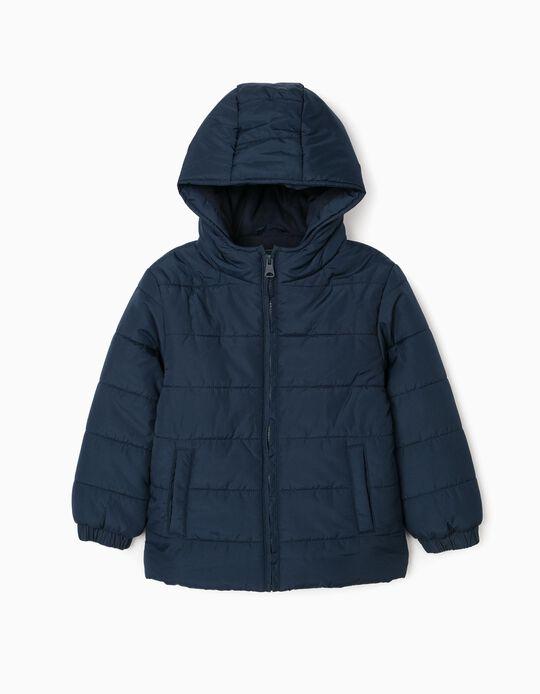 Padded Jacket for Boys, Dark Blue