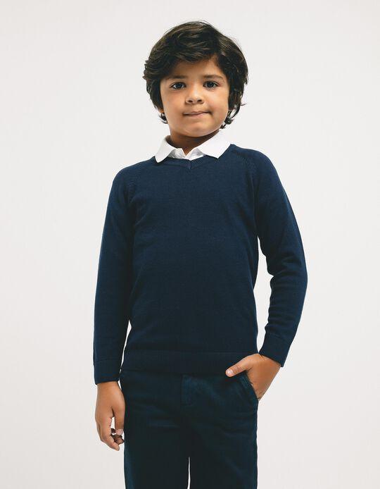 Jersey para Niño, Azul Oscuro