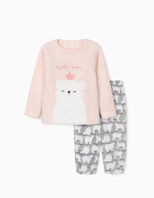 Pyjamas for Baby Girls 'Little Queen', Pink/Grey
