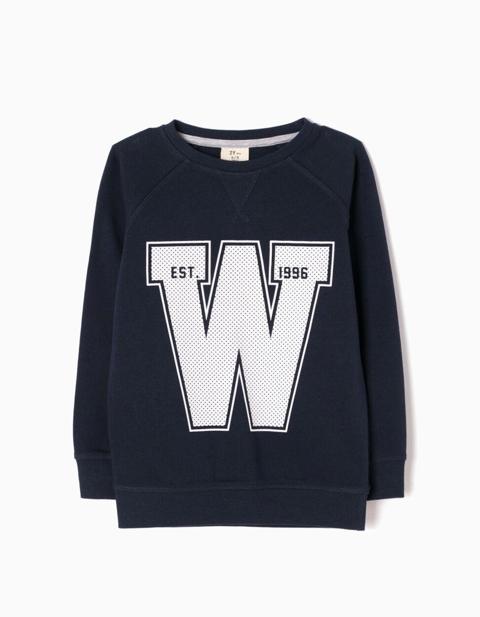 Sweatshirt W 96 Azul