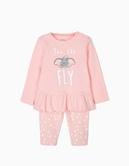 Pijama para Bebé Menina 'Dumbo', Rosa