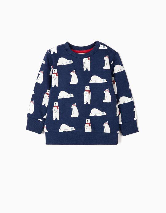 Sweatshirt para Bebé Menino 'Bears', Azul