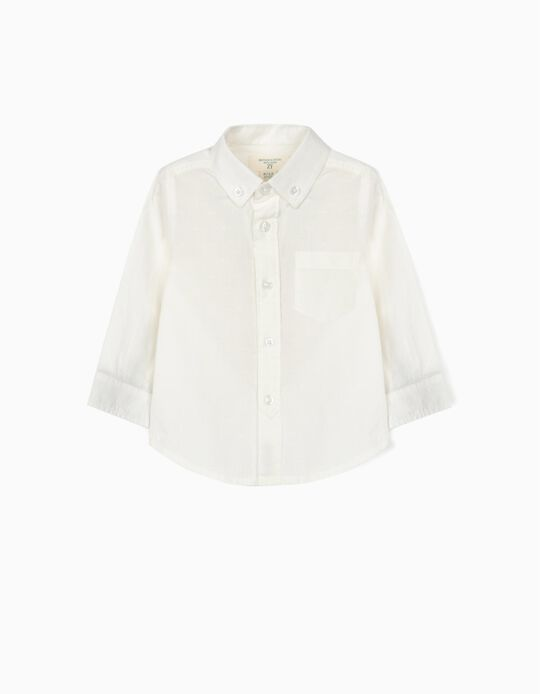 Plumeti Shirt for Baby Boys, 'B&S', White