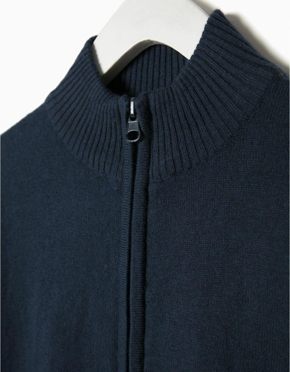Casaco malha com lã