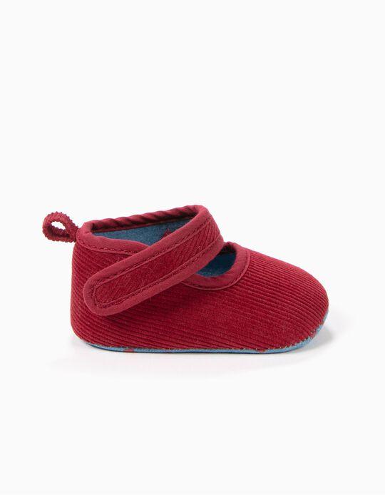 Zapatos Pre-Walker Pana Rojo Oscuro