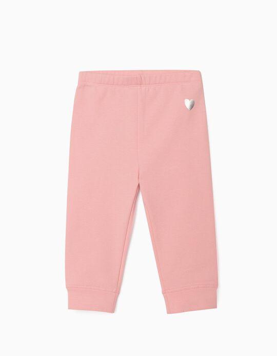Pantalon de sport bébé fille 'Heart', rose clair