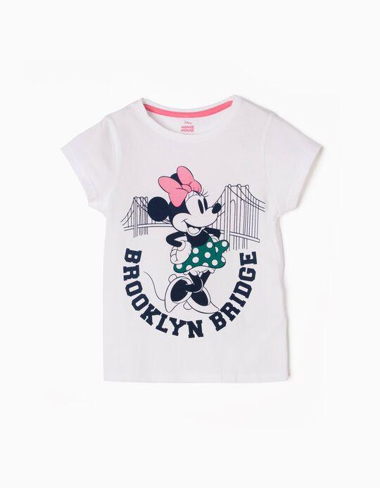 Camiseta Minnie Brooklyn Bridge Blanca