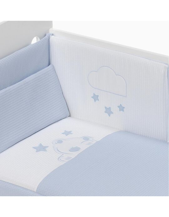 Duvet and Cot Bumper 120x60cm Viggo Don Algodon, Blue