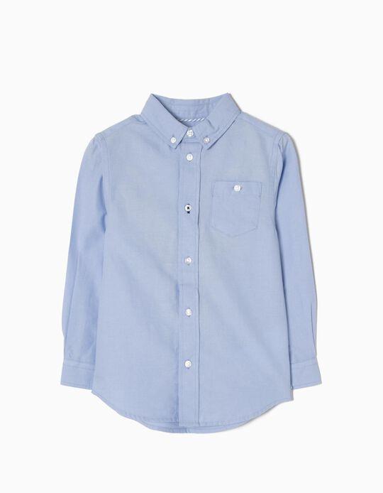 Camisa de Manga Larga para Niño, Azul