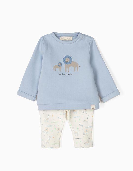 Chándal para Recién Nacido 'Mini Me', Azul y Blanco