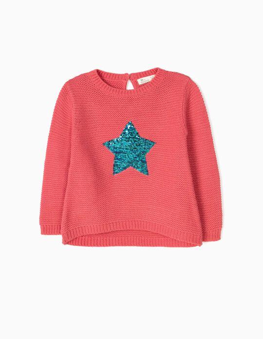 Camisola de Malha com Lantejoulas Reversíveis Stars