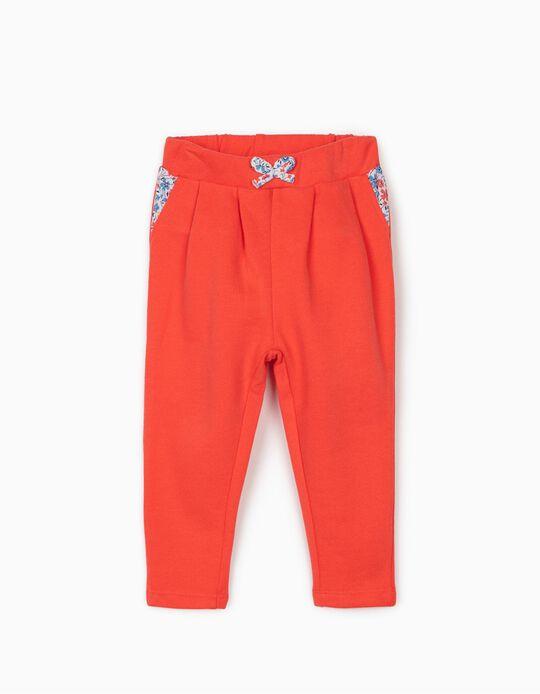 Pantalón de Chándal para Niña 'Flowers', Coral