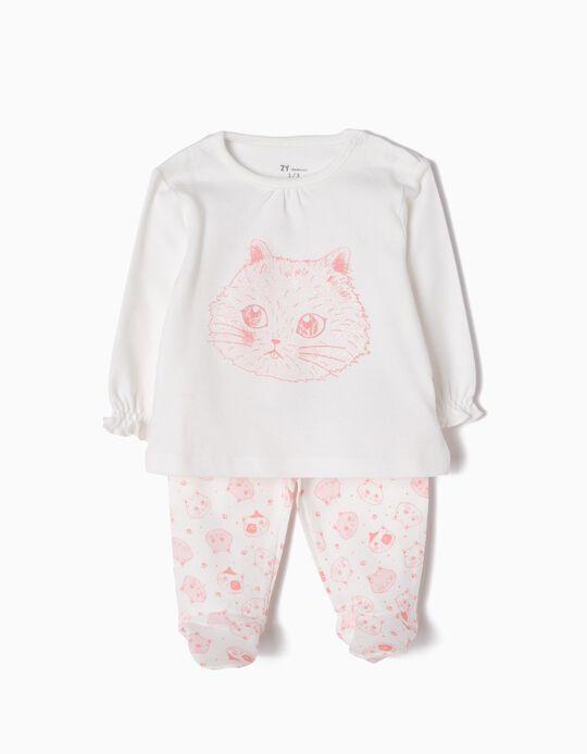 Pijama Manga Comprida e Calças Cats