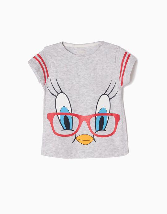 T-shirt Tweety Cinzenta