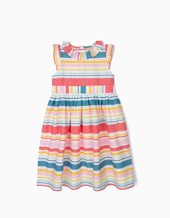 Vestido para Niña a Rayas, Multicolor