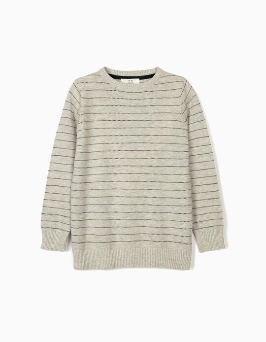 Striped Jumper for Boys, Grey