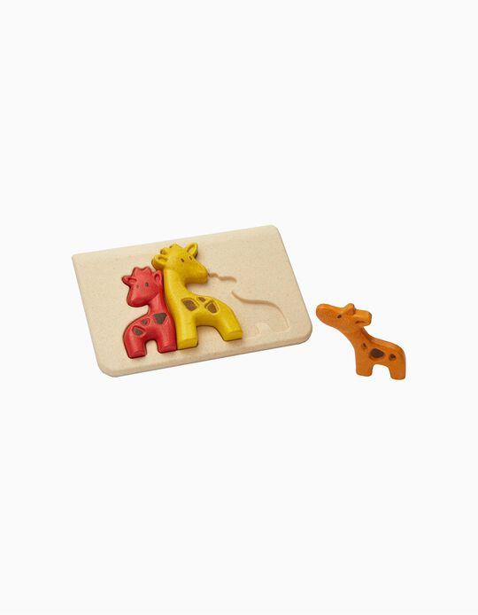 Puzzle Girafa Plan Toys 18M+