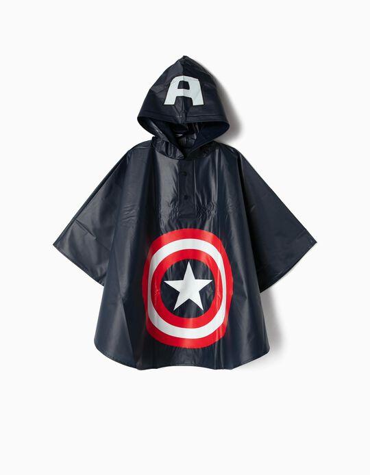 Capa de Lluvia para Niño 'Captain America', Azul Oscuro