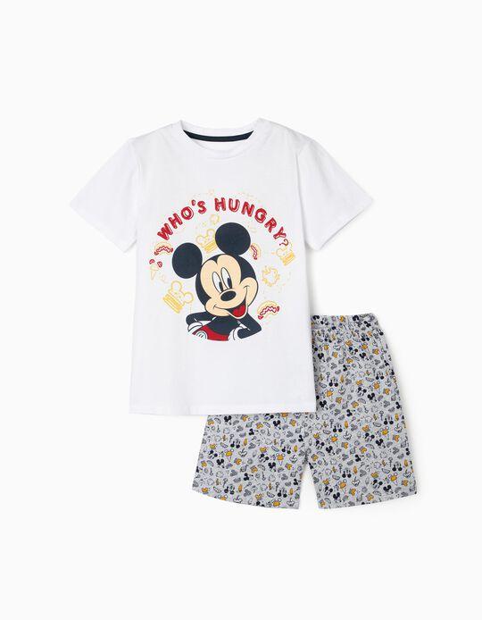 Pyjamas for Boys, 'Hungry Mickey', White/Grey