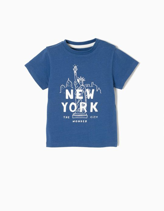 Camiseta New York Azul