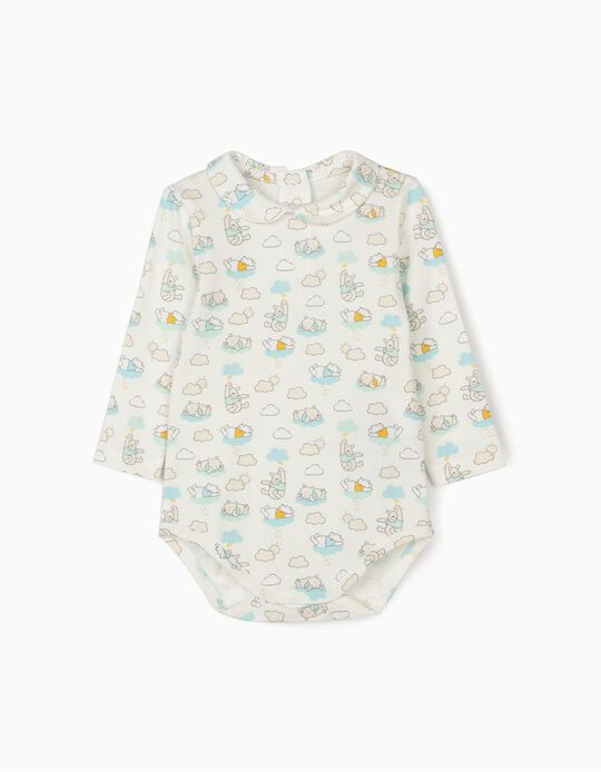 Bodysuit for Newborn Babies, 'Winnie the Pooh', White