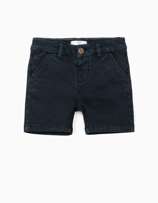 Short Chino para Bebé Niño, Azul Oscuro