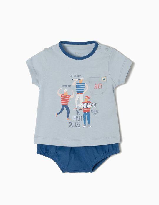 Conjunto T-shirt e Calções Sailors