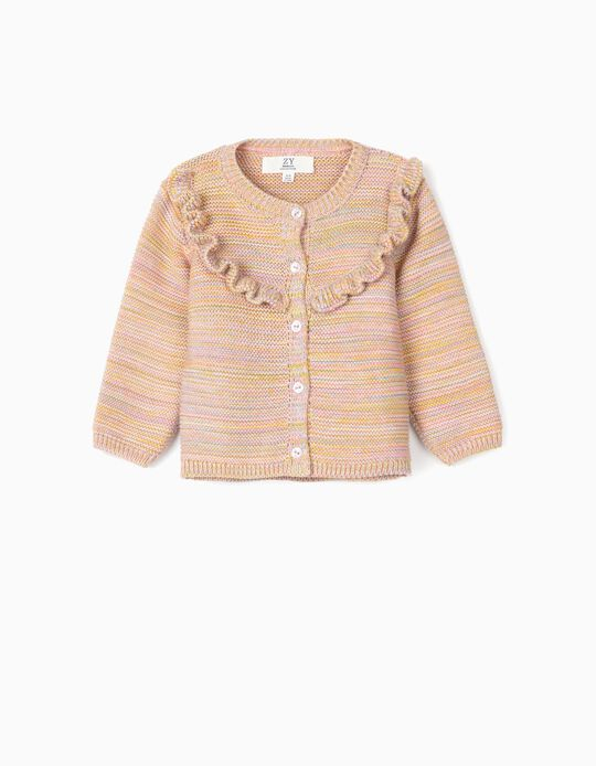 Knit Cardigan or Newborn Girls, Multicolour