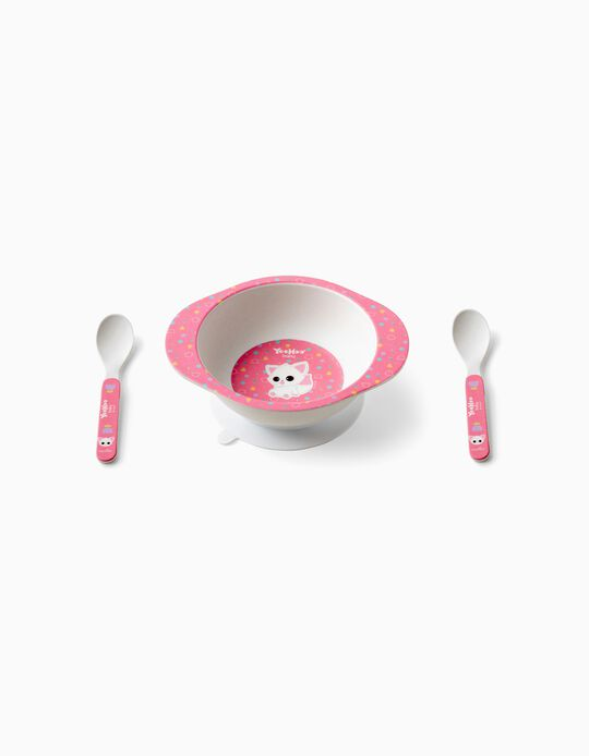 Plate and Spoon Yoohoo 9m+ Pink