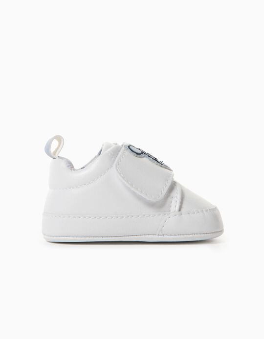 Baskets Nouveau-né 'Mickey', Blanc