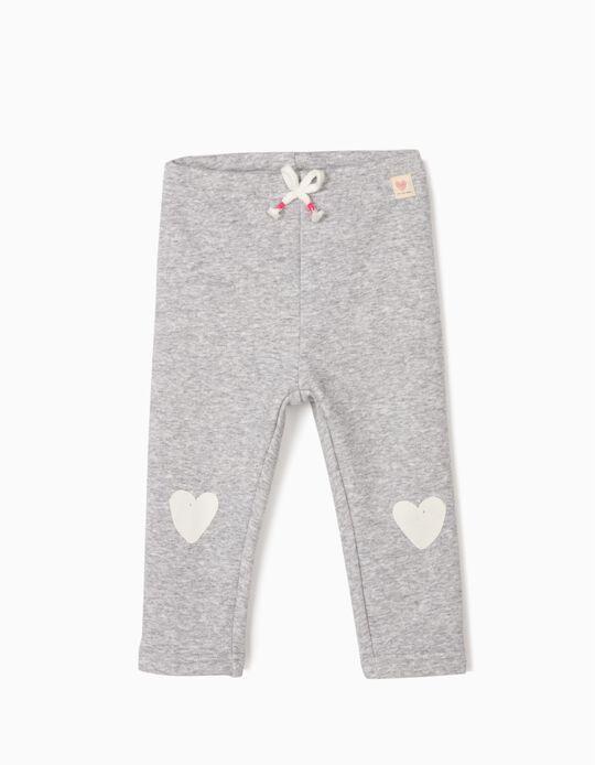 Calças para Bebé Menina 'Hearts', Cinza