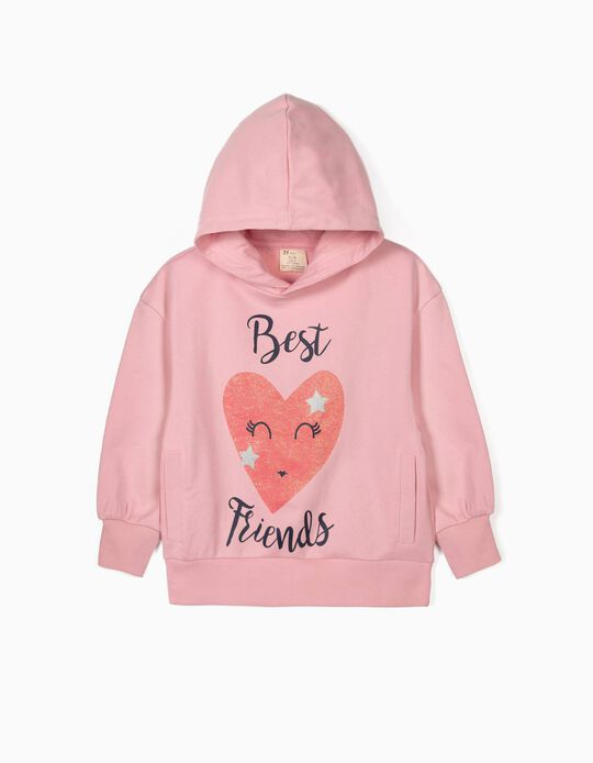 Hoodie for Girls 'Best Friends', Pink