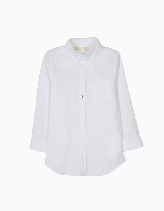 Camisa con Bolsillo Menino Blanca B&S