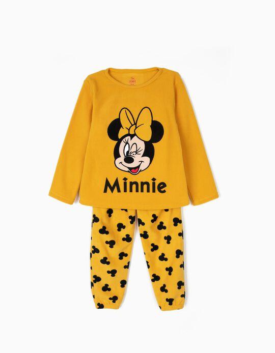 Pijama Polar para Niña 'Minnie', Amarillo